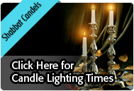 Click here for Candle Lighting Times